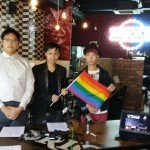 25 November 2013 - Rainbow Flag Presentation to Bricks Burger